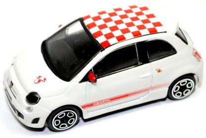 Fiat 500 Abarth Model Car 1//43 Diecast Metal Burago WHITE New Genuine 59230950