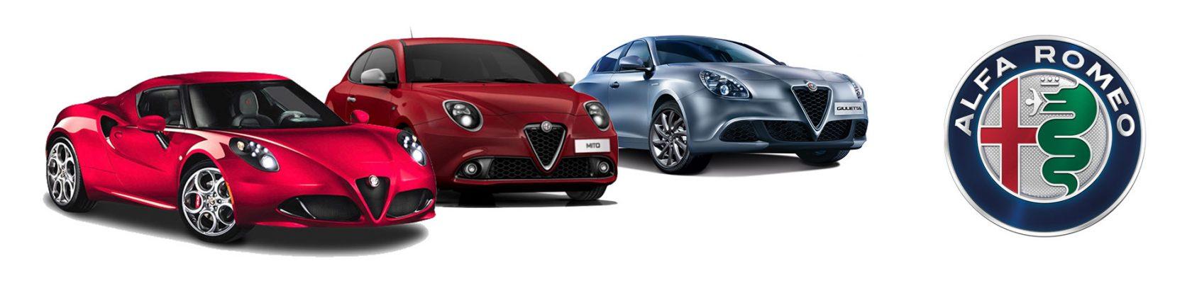 Alfa Romeo 4C, Alfa Romeo MiTo & Alfa Romeo Giulietta