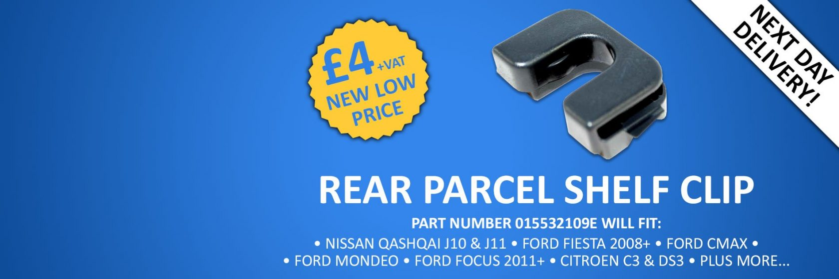 Nissan Qashqai Rear Parcel Shelf Clip